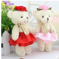 20pcs/lot free shipping Fashion with crystalstone Bear Pendant children toy party gift  flower packing material wholesale