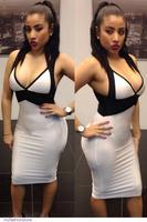 New Fashion Women Sexy V-Neck White Black Patchwork Midi Summer Bandage Party Dress 2014 Vestidos de fiesta Sundress