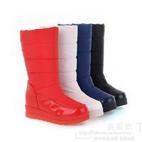Hot 2014 Platform Winter Boots Women Ski Boots Warm Snowboots Mid Leg Winter Shoes Size 35-40 Black White Red