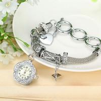 New fashion leather bracelet watches women rhinestone watches for women dress watches quartz watch AW-SB-1122