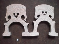 2 PCs Cello Bridge 4/4 with Belgium Style and French style
