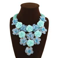 Designer pendant necklaces for women fashion flower jewelry brand wholesale gifts