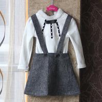 wholesale(5pcs/lot)-child girl autumn Suspender skirt
