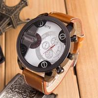 New Arrival WEITE Watches Leather Strap Men Luxury Brand Quartz Watches
