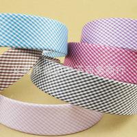 Checked Girls Women Plastic  Headband Chiffon  Hair Band 2.3cm Free Shipping