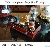 Tube Headphone Amplifier 6N11 Pure Class A Preamp Voltage Amplifier 6N13P Power Stage Amplifier 20~200mW 32~600 ohm HIFI Audio