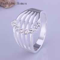 R412 New arrival this 925 sterling silver rings , sterling silver jewelry wholesale crystal ring for women