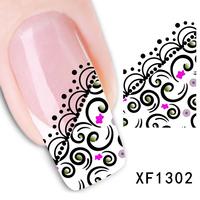 Free shipping Japanese style watermark 1 Sheets 3D Design cute abstract style Tip Nail Art nail sticker nails Decal nail tools