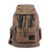 New men's fashion canvas shoulder bag backpack schoolbag male and female casual bag wholesale high school students backpack