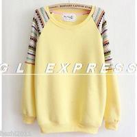 2014 Women Lady Long Sleeve Jumper Pullover Sweatshirt Sweater Top 6 Color