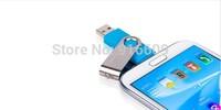FC05 Hot Sale Metal Cool Swivel Enough Capacity 64GB Waterproof USB Flash 2.0 Memory Drive Stick Fit Phone
