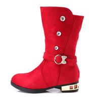2014 winter fashion Martin boots for girls rhinestone belt buckle  Foot length 16.5 ~ 23.2cm