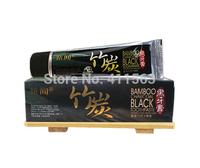 60g*2 bamboo charcoal Black toothpaste teeth whitening freshen breath suppress gums bleeding removing teeth stains dental cream