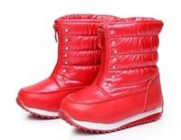 Fashion Children Shoes Red Snow Boots Grils Cute Waterproof Winter Kids Boots Plush Lining Skidproof Warm Shoes