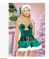 Green suspenders Christmas Christmas hats games princess dress belt containing clothes