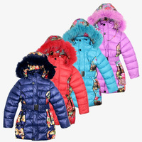 2014 New Russian exports down padded  boys and girls winter outwear children's down jacket size 140-164cm big baby down parkas