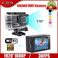 "Free Shipping SJ6000 WIFI Action Camera 12MP Full HD 1080P 30FPS  2.0""LCD Diving 30M Waterproof Sport DV"