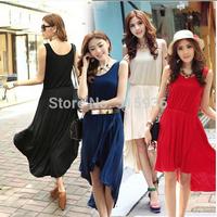 2014 new promotional irregular dovetail Slim vest dress skirt 1324 free of charge