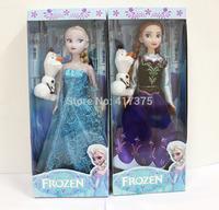 Frozen Figure Play Set Anna Elsa Olaf 2sets/lot PVC 33cm High Action Figures Classic Toys