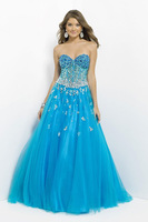 New Sexy A-line Sweetheart  Prom Party Evening Dress Tulle Beaded Fromal gowns