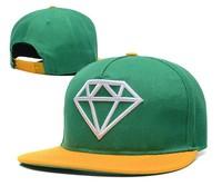NEW arrival Snapback hat for men women Diamond Embroidery Sun Hip hop basketball Flat Brim Adjustable Baseball Cap snap 18styles