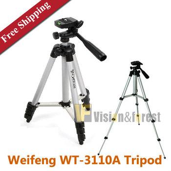 камера штатив Универсальный гибкий Weifeng WT-3110A штатив портативный штатив камеры с 3-полосная глава WT3110A легкие штатив