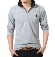 men fashion  autumn long-sleeve t-shirt print male long-sleeve casual shirt 100% cotton shirt plus size plus size M-4xl