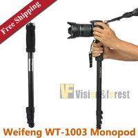 Weifeng WT1003 Alloy Monopod Lightweight DSLR Aluminium Camera Monopod WT-1003 For Canon Nikon with Case Free Shipping