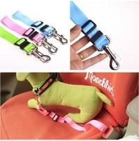 Free Shipping 10pcs/lot Multi-colors Nylon 43-70cm Length Adjustable Pet Safety Belt Leash For Dog, Dog Safety Belt Leash.