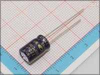 100Pcs 6mm*12mm 220uF 16V Through Hole Alumilum Electrolytic Capacitor