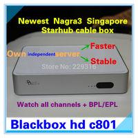 Nagra3 receiver,singapore starhub cable box Blackbox hd c801 black box c801 HD could watch World Cup,BPL&HD&HK drama movie