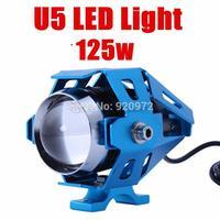 New Blue motocross offroad car transformers u5 CREE LED IP68 motorcycle headlight fog lamp Laser Light 125w 3000lm 12V -80v