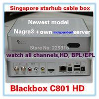 Singapre nagra3 receiver,singapore starhub cable box Blackbox hd c801 black box c801 HD support BPL/EPL/HD/HK drama movie