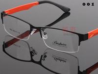 News spectacle eyeglasses metal Half-rim optical frames eyewear for men women Myopia glasses oculos de sol 8834