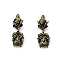 2014 Vintage Dark Green Stud Earring Design Earring Charm Earring Good Quality (Min $20 can mix)