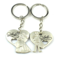 2014 Bride and Groom Sweet Wedding Birthday Gifts Couple Keychain Keyring Keyfob