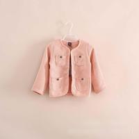 2014 Autumn Linen fabric Gold blend fabric Simple Literature and art Van girls Simple Loose coat pink navy green A4984