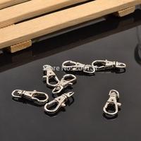 100PCS Jewelry Rhodium Lobster Fish Hook Components DIY Jewellery velvet Hook Belt Bag Connector hanging Hook Chains Ending Hook