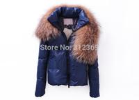 High Quality Luxury Larger Fur Collar Winter Jacket Coat Women Down Jacket Black Blue Thicken Brand Women Down Coat Down Parkas