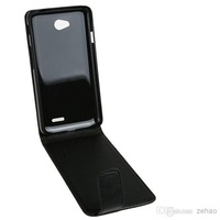 For LG L70 Cheap Solid Pure Color Black Flip Case PU Leather Wallet Case Dirt Dust Scrach Protector Cover Free Shipping