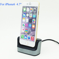 "High Quality Desktop Charger Dock Cradle Docking Station Sync Data  For iPhone 6 4.7"" with usb cable Multi function"