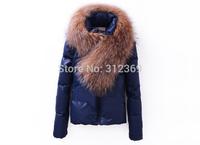 Women Down Jacket Luxury Real Raccoon Larger Fur Collar Winter Jacket Coat Women Down Parkas High Quality Brand Women Down Coat