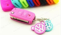 Genuine silicone car key cover keyrings holders keychain accessories  wallet set bag free shipping