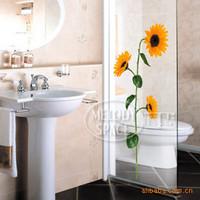 DIY PVC flower glass wall posts sunflower stickers - stickers waterproof bathroom - stickers TC978