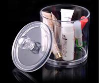 Desktop Cosmetics Shelves Small Round Storage Box