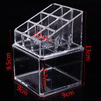 Two Layers Jewelry Box Crystal powder box Mini storage box Transparent cosmetic boxes