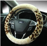 high quality  leather Drop Shipping Wholesale free shipping  car steering wheel cover Wool cloth with soft nap is warm in winter