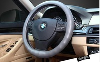 Wholesale free shipping 1pcs car steering wheel cover Black Genuine Artificial sheepskin leather Drop Shipping