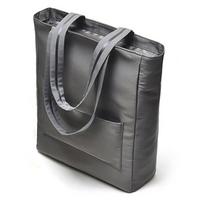 2014 free shipping Wholesale Retail Light gray satin women handbag casual solid women shoulder bags