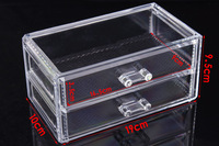 Two layers jewelry box Acrylic desktop cosmetics storage box